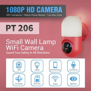 ESCAM 2MP 1080P 180Degree Wall Lamp Camera Wireless PTZ Outdoor Light IP Camera Smart Induction Mottion Detection Baby Monitor