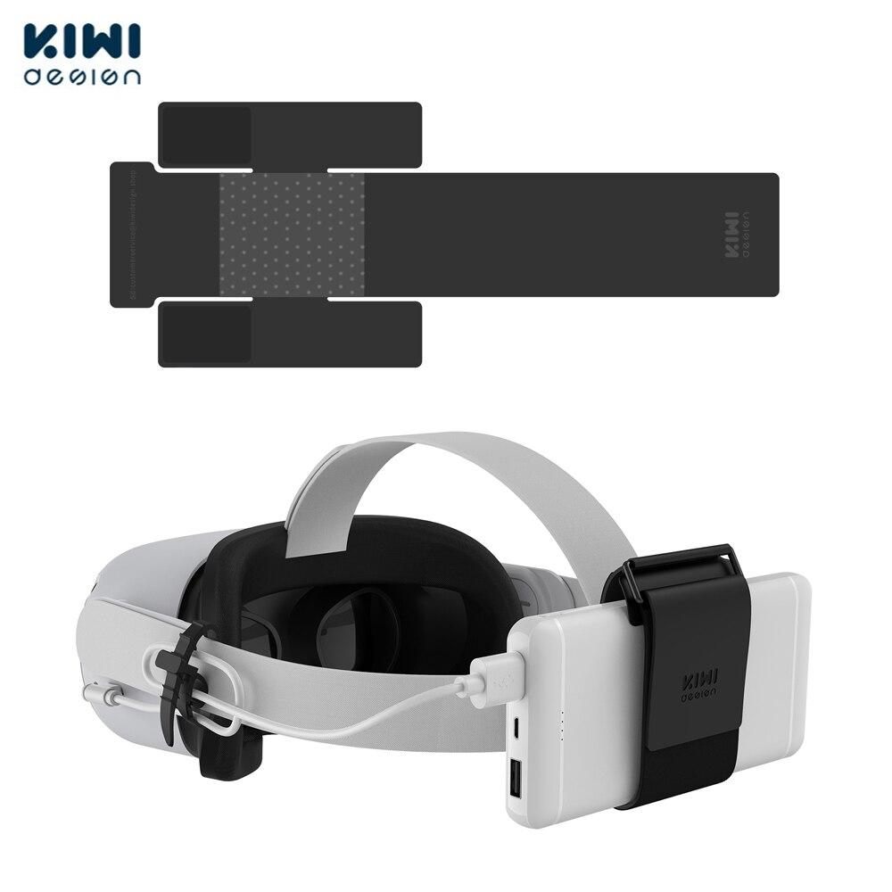 كيوي تصميم فر قوة البنك تحديد حزام ل كوة كويست/كويست 2 الملحقات الثابتة على سماعات VR حزام (وليس ل النخبة حزام)