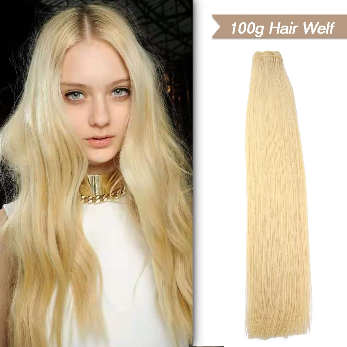 WIT Human Hair Extensions Straight European Remy Natural Hair Weft 20