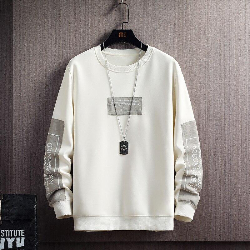 Мужская Флисовая Толстовка в стиле Харадзюку, повседневная кофта с надписью, пуловер в стиле хип-хоп, Японская уличная одежда, осень 2021