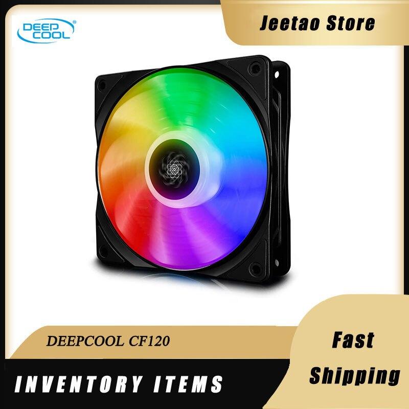 DEEPCOOL CF120 ARGB 12 سنتيمتر 5 فولت 3PIN مع 3pin ADD-RGB رأس واجهة الكمبيوتر عنونة قضية مروحة كاتمة للصوت لمروحة التبريد