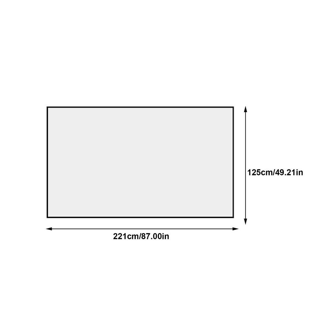 Складной экран для проектора 16:9, простой экран для занавесок, 100 дюймов, портативный HD экран для проекции на 170 градусов для дома и улицы, офис...