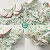 Yg Brand Children's Wear, Summer Baby Cotton Children's Suit, Floral Lapel Baby Clothes, Lovely Princess Skirt 6