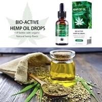15 30ml 100 Natural Organic Hemp CBD Oil Hemp Extract Drop for Pain Relief Reduce Anxiety Better Sleep Skin Care Essence