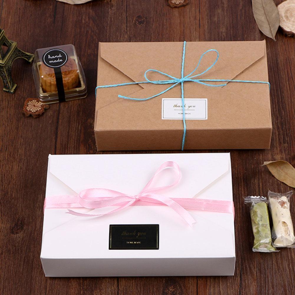 Подарочная коробка-конверт с бантом, упаковочные коробки из крафт-бумаги, упаковочная коробка-конверт, изысканная Подарочная коробка на де...