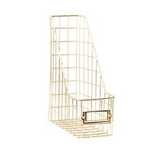 File Holder Nordic Style Desk Organizer Mesh Book Shelf Management Bedroom Magazine Rack Stand Tidy Wrought Iron Stationery