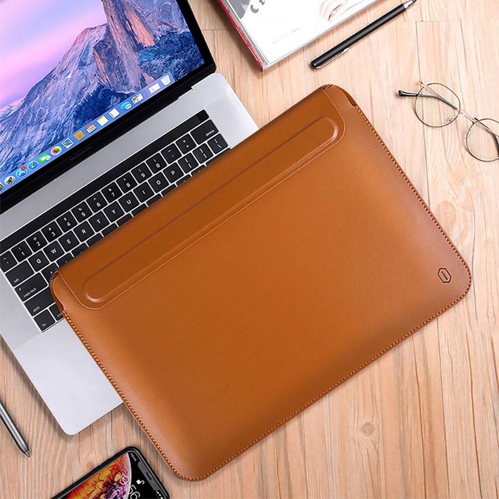 AliExpress - WIWU Laptop Sleeve for Macbook Pro 13 case Portable Laptop Bag 13.3 Inch PU Leather Waterproof Case for MacBook Air 13 Sleeve