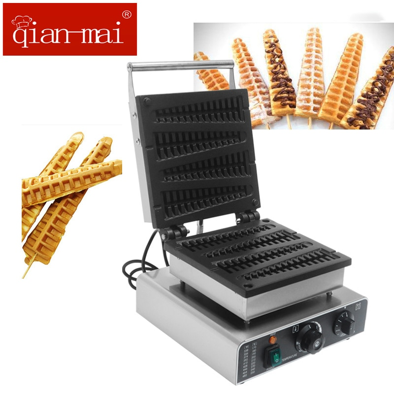 Qianmai Commercial Electric Stick Lolly  Non-stick Surface Waffle Muffin Maker недорого
