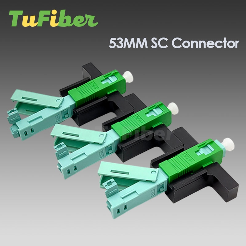 UNIKIT SC APC UPC Fast Connector Single-Mode FTTH Tool Cold Connector Tool Fiber Optic Fast Connnector 53mm Free Shipping