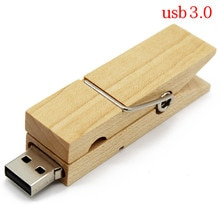 TEXT ME usb 3.0 maple Wooden Clip usb flash drive pen drive 4GB 8GB 16GB 32GB maple wooden usb 3.0