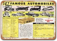 1963 147 famous cars for 2 49 vintage tin signs cars sisoso metal plaques poster bar pub retro wall decor 12x8 inch