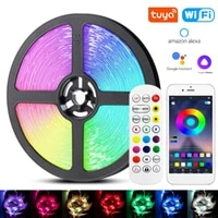 led strip light rgb 5050 fita luces flexible diode backlight lamp bluetooth smart wifi controller christmas party bedroom decor