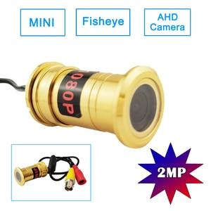 2MP Mini CCTV Door eye Hole Fisheye AHD Camera 1080P Golden Peephole Indoor Home Security Detachable Camera For AHD DVR System