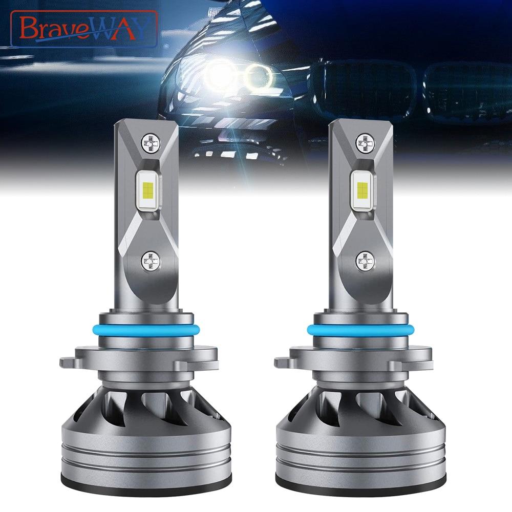 BraveWAY جديد! سيارة المصابيح الأمامية H1 H4 H7 H11/H8/H16(JP) 9005/HB3 9006/HB4 مصابيح الضباب LED في CANBUS 12 فولت LED مصباح 60 واط 6000 كيلو 16000LM