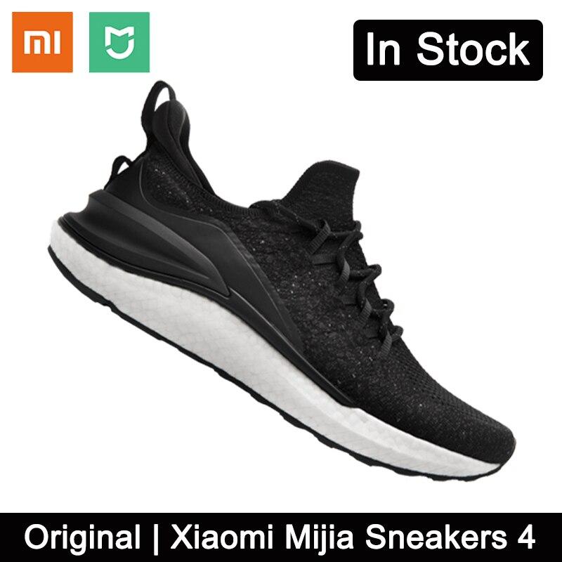 الأصلي شاومي Mijia أحذية رياضية 4 الرجال في الهواء الطلق الرياضة يوني صب 4D هيكل السمكة قفل نظام الحياكة العلوي للرجال الاحذية