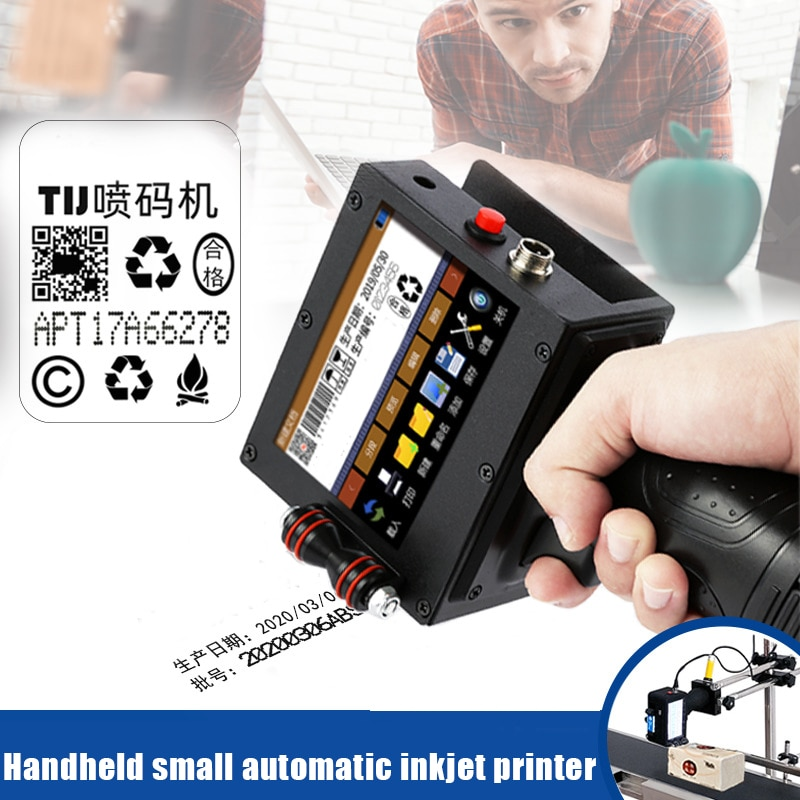 Impressora a Jato de Tinta Portátil de Alta Impressora de Código a Jato de Tinta de Secagem Definição Rápida Code Impressão Bv789 qr