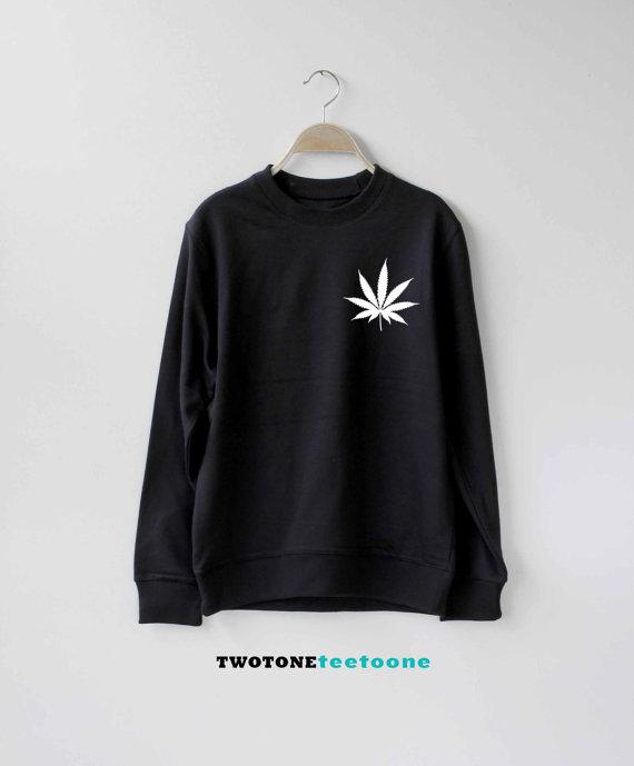 Cannabis Marijuanna Weed Sweatshirt  Ugly Christmas Sweatshirts Unisex-E017