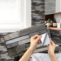 self adhesive 6 sheet matte tile stickers peel and stick vinyl waterproof removable tile sticker decals for bathroom kitchen