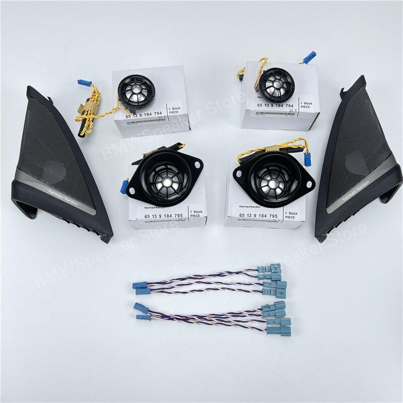Porta da frente do carro tweeter capa alto-falante para bmw g30 g31 5 series alta qualidade altifalante modificação pacote original kit de atualização