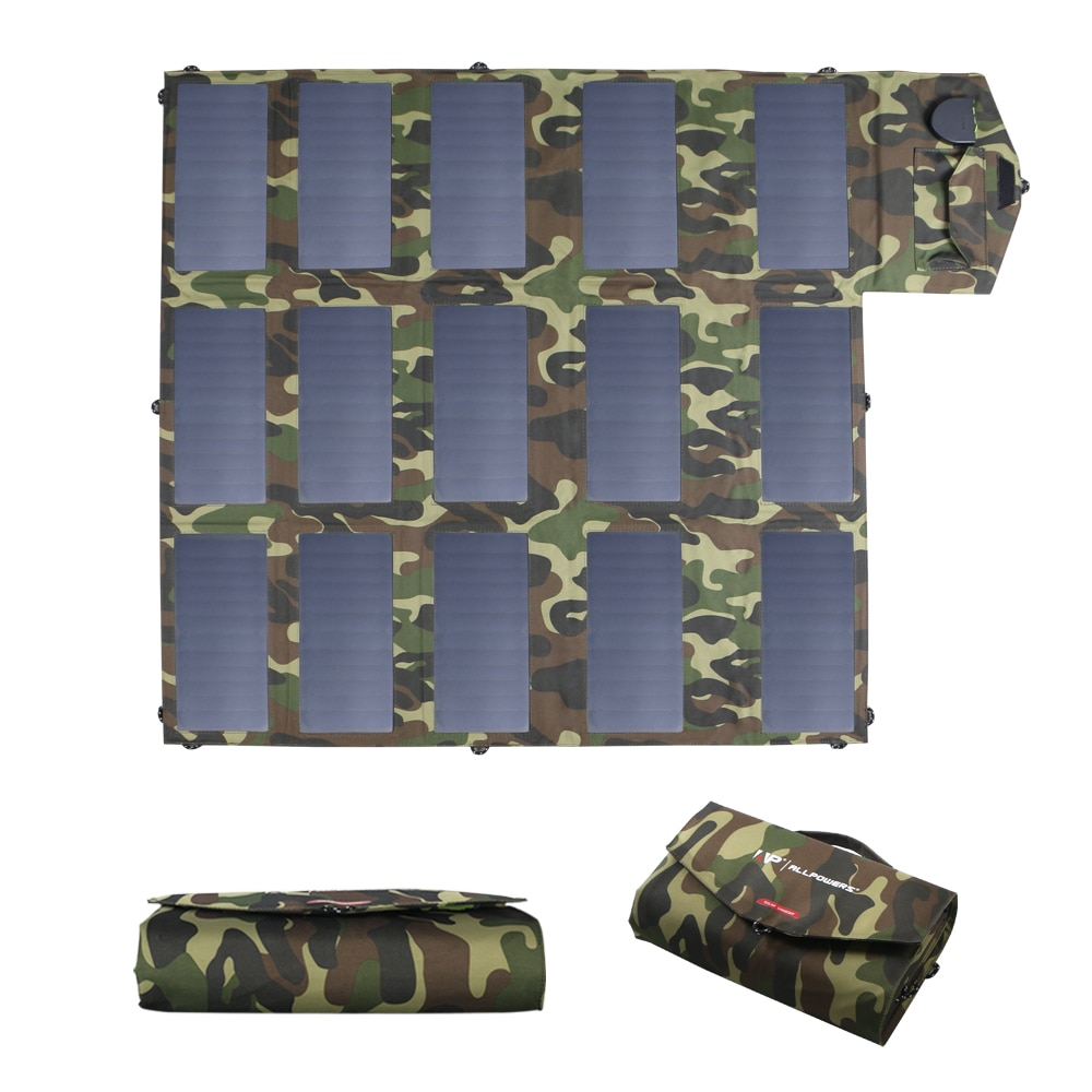 Promo ALLPOWERS 100W 60W Solar Panel Charger Foldable Portable Solar Charger for iPhone iPad Macbook Huawei Samsung Hp Dell Asus Acer.