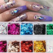 12 Grids Butterfly Shape Nail Flakes 3D Laser Glitter Sequin Nail Art Decorations Women Beauty Manic