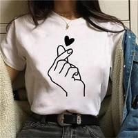 2021 cartoon fashion print t shirt ladies casual printing tshirts women funny t shirt white tops casual short sleeve oversized