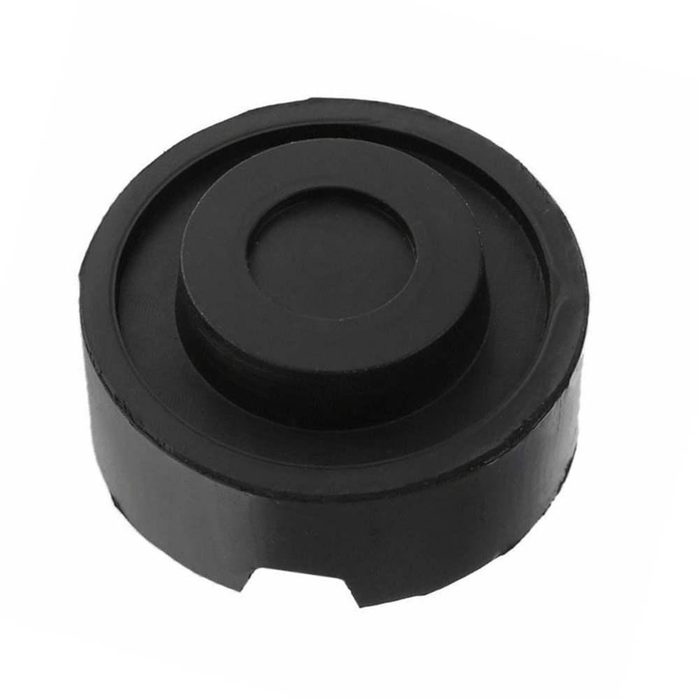 O adaptador de levantamento automático de jack 6.5x3.3cm parte o bloco de ferramenta de borracha preto do guindaste