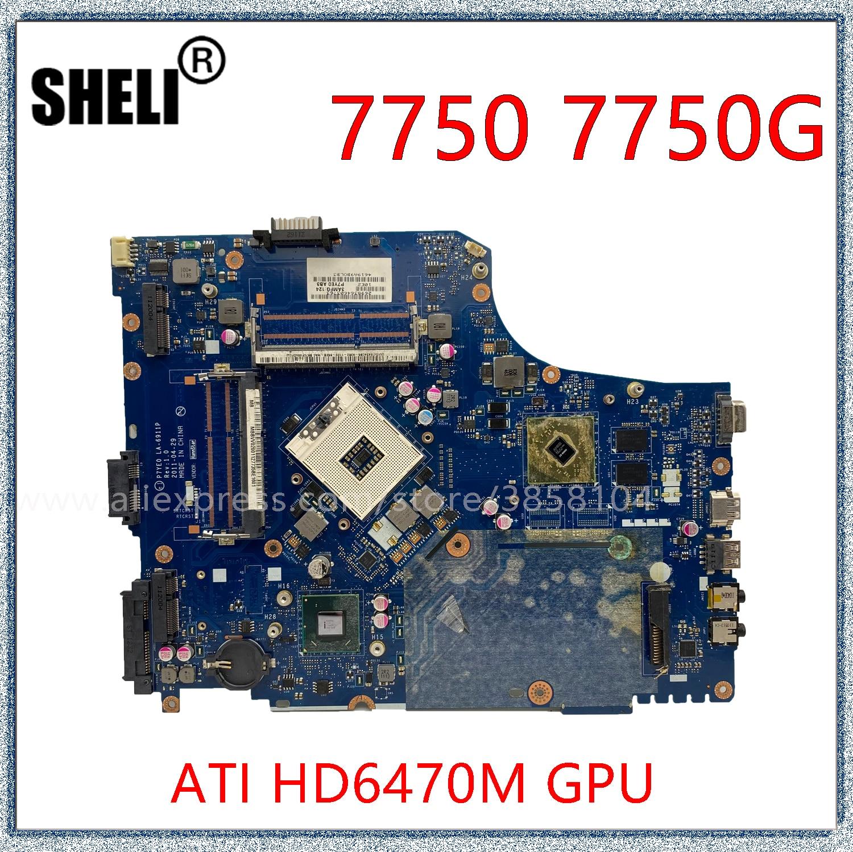 SHELI لشركة أيسر أسباير 7750 7750G اللوحة المحمول مع HD6470M GPU LA-6911P