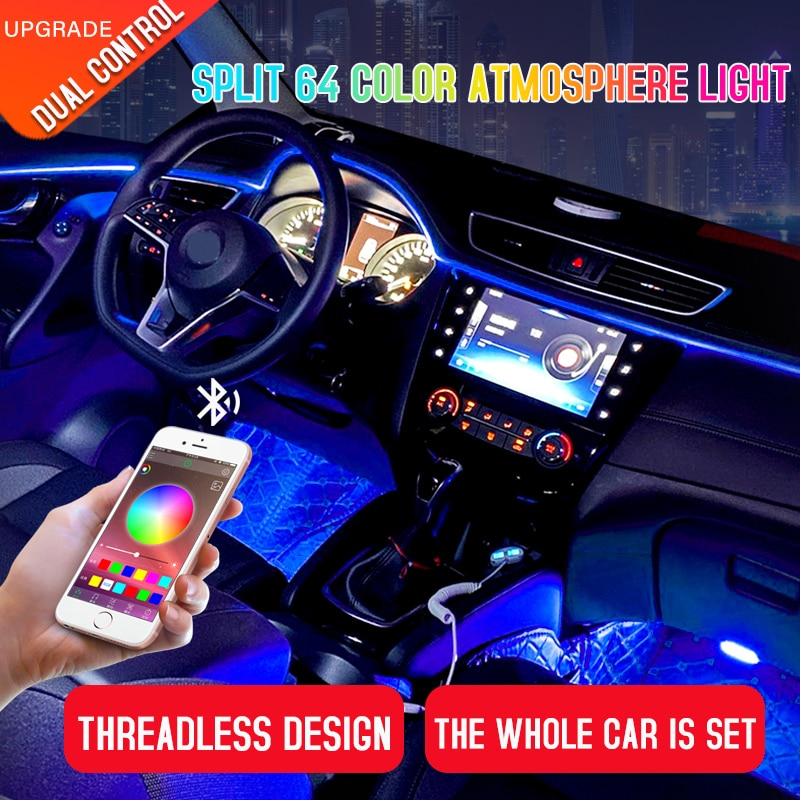AliExpress - Led Car Interior Ambient Atmosphere Mood Light Rgb App Remote Control Backlight Auto Foot Center Console Door Decorative Lights