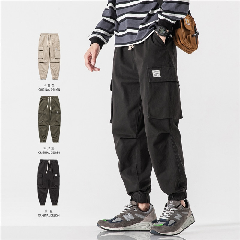Trendy Brand Autumn New Ankle Banded Working Pants Men's Japanese Style Casual Long Pants Versatile Korean Style Trendy Ankle
