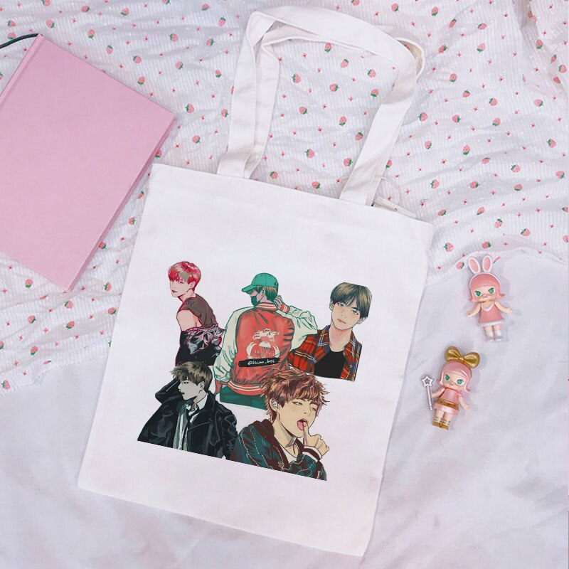 Bangtan Boys Crossbody Women Bag New Korean Kpop Shoulder Canvas Bags Ulzzang Harajuku JIN SUGA J HOPE JIMIN V JUNGKOOK Handbag