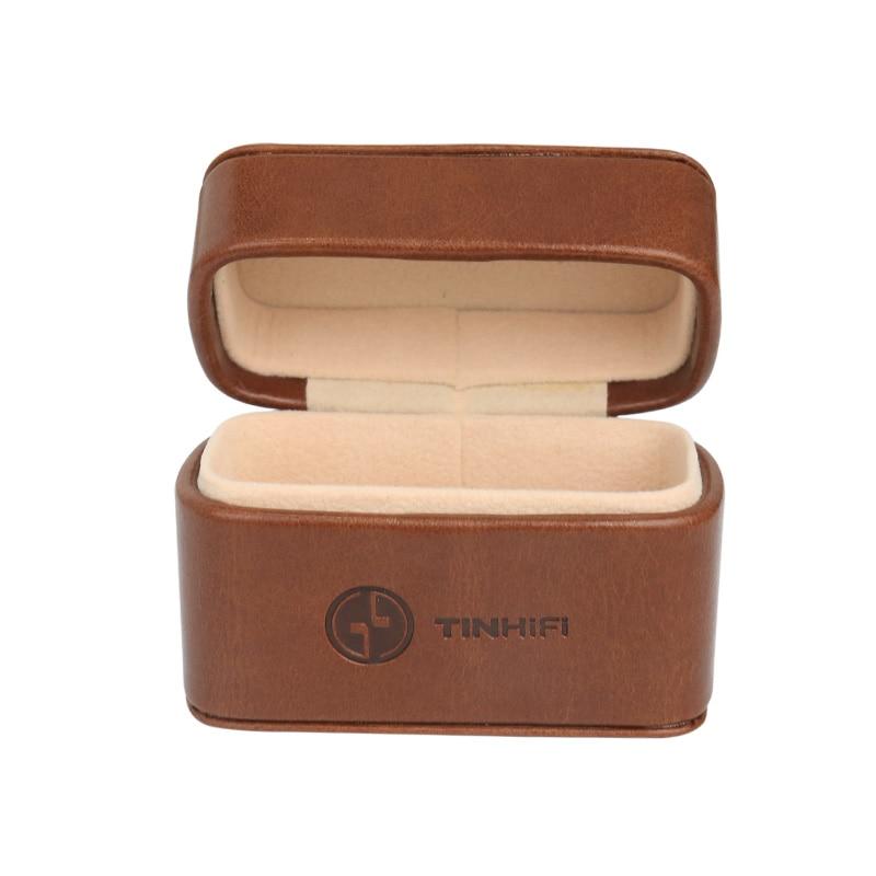 Caja de almacenamiento de cuero de PU de TinHiFi para auriculares T2 T3 T2 PRO
