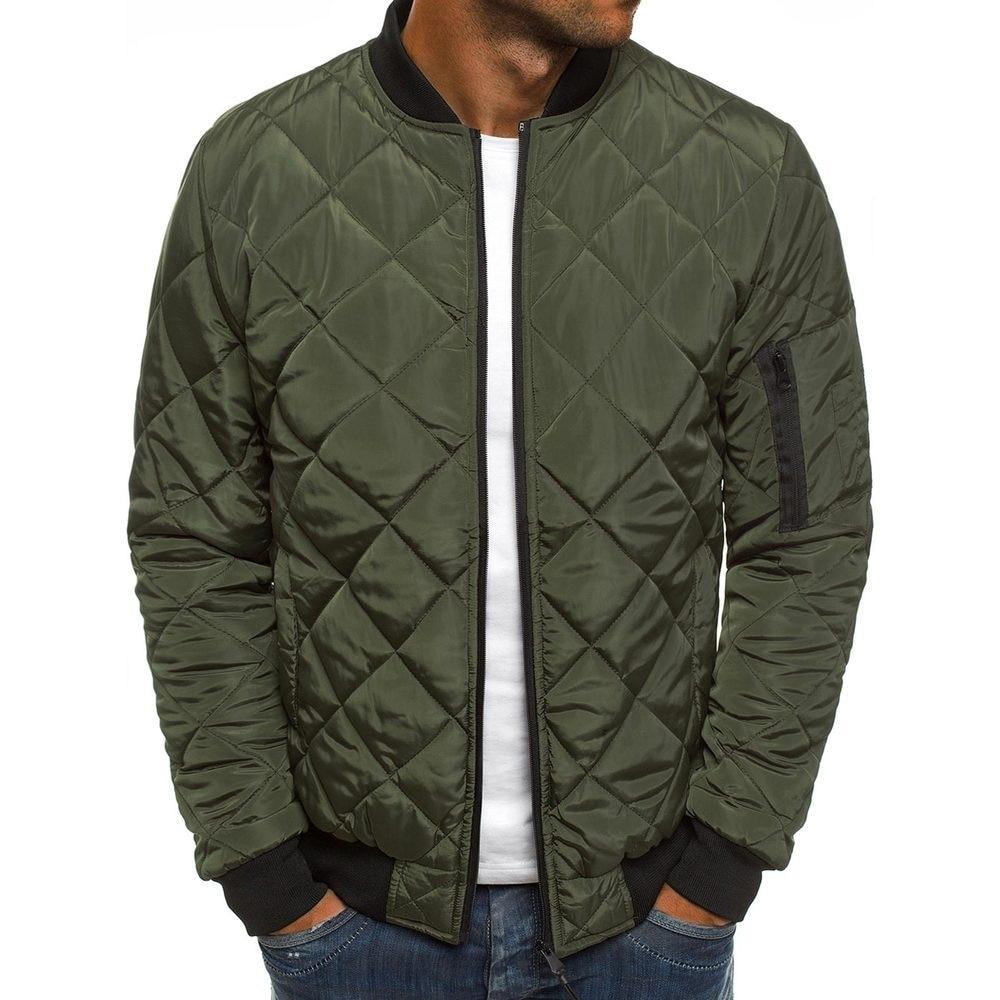 Мужские зимние куртки и пальто, однотонные повседневные мужские парки