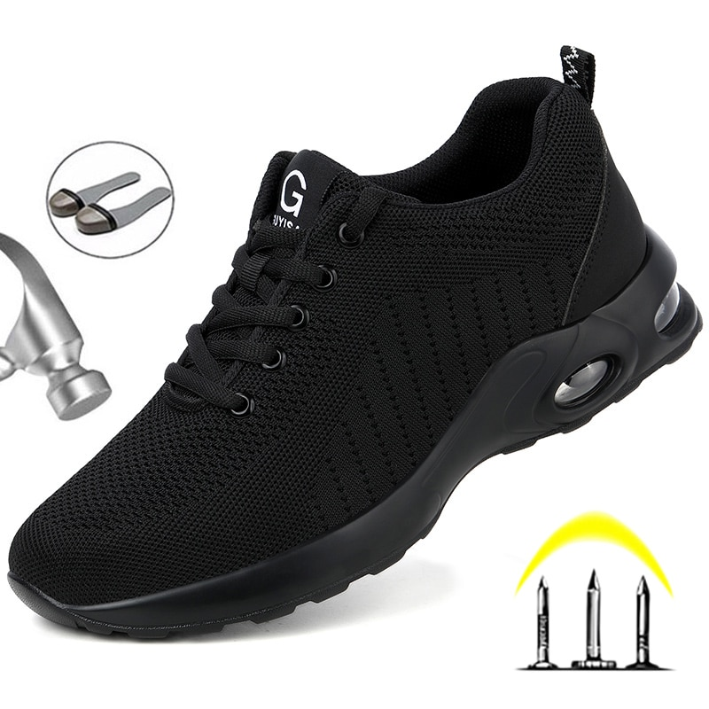 Fashion Safety Shoes Men Steel Toe Shoes Anti-puncture Work Sneakers Indestructible Work Sefety Boot