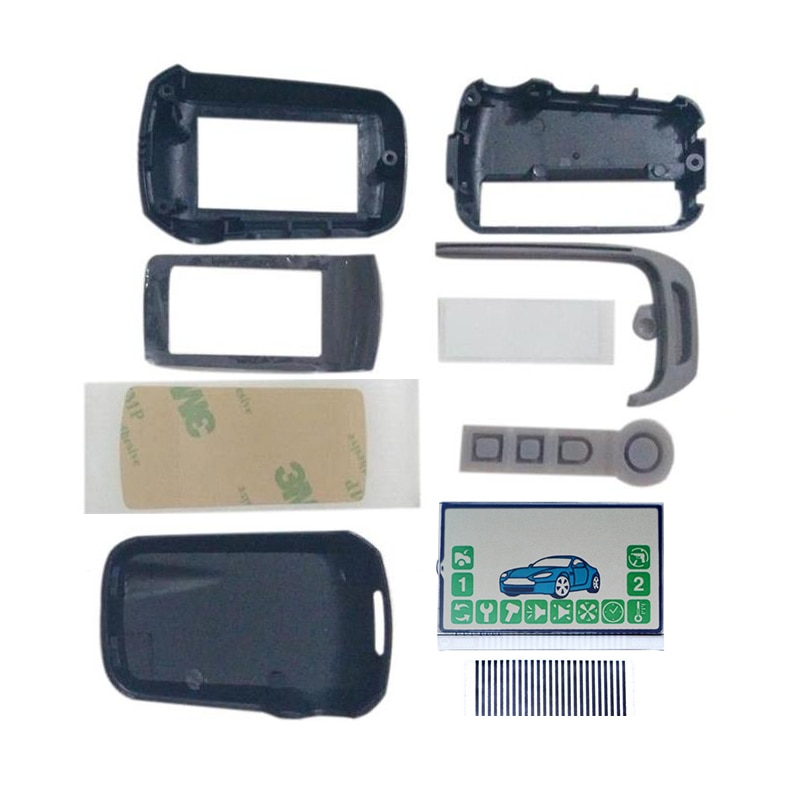 A92 Keychain body Cover + A92 LCD Display Flexible Cable Zebra Stripes For Russia StarLine A94 A92 C