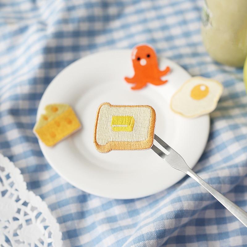 Pegatina de tejido adhesivo bordado serie Good morning adecuada para decorar cuadernos y ropa