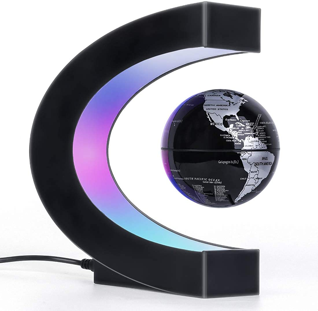 Magnetic Levitation Floating Globe, Unique Dad Birthday Gift, Home Office Decor for Men/Boss/Teacher, Cool Tech Gifts for Men