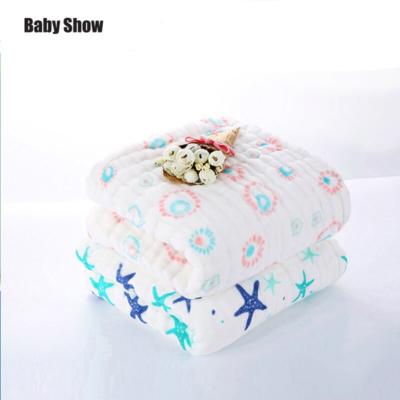Baby show towel cotton gauze soft and absorbent Sleeping Warm Quilt Kids Swaddle Wrap Blanket Sleeping baby blanket 105*105cm