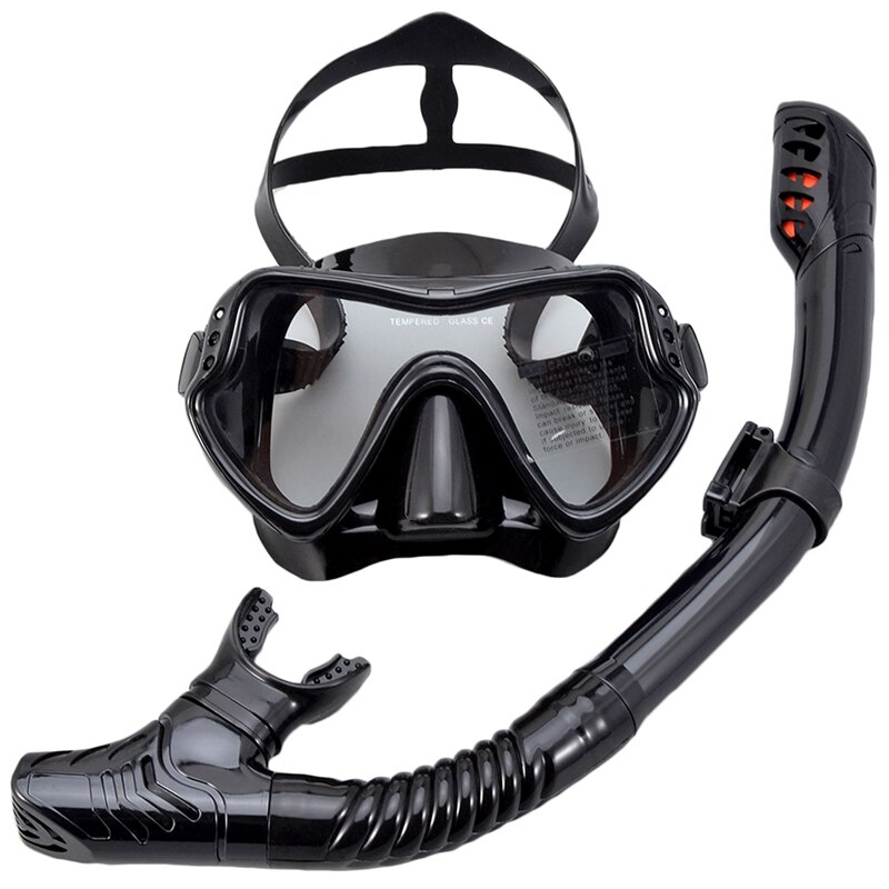 Professional Scuba Diving Mask Set Anti Fog Goggles with Snorkel Glasses Tube Adjustable Strap for Women Men Adult Swimming Mask deepgear nearsighted diving mask for adult clear pc myopia lens scuba mask short sighted divers scuba mask top snorkel gears