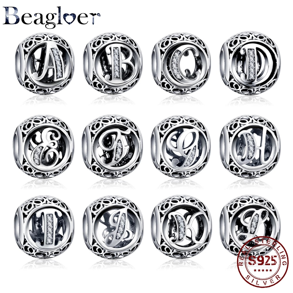 2021 New Arrival 100% 925 Sterling Silver Letter Boy Dangle Beads Fit Original Pandora Charms Bracel