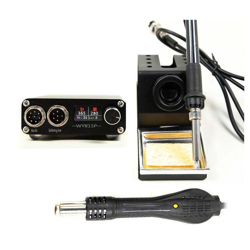 محطة ديسولديرينغ سبيكة لحام كهربائي مسدس هواء ساخن لحام محطة عدة LED عرض لتقوم بها بنفسك أدوات إعادة لحام