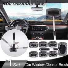 Автомобильный оконный очиститель, оконная щетка, мойка, инструмент для очистки лобового стекла, авто стеклоочиститель, выдвижная ручка, 7 шт., салфетка из микрофибры
