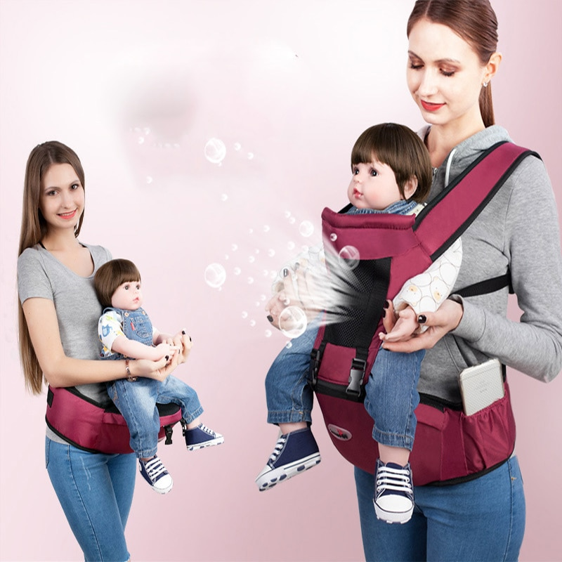 multi function baby sling front hug baby waist stool single stool child holding belt four seasons holding baby artifact Baby Carrier Waist Stool Simple Newborn Four Seasons Universal Solid Color Breathable Mother Holding Baby Artifact