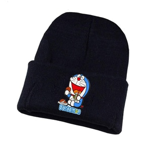 Anime Doraemon Knitted Hat Cosplay Hat Unisex Print Adult Casual Cotton Hat Teenagers Winter Knitted Cap