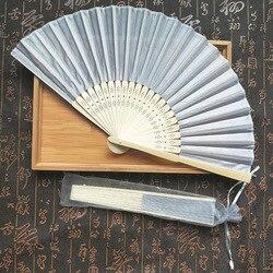 Ventilador de festa dobrável de bambu, colorido, estilo chinês, ventilador de seda, festa de casamento, decoração, dropshipping