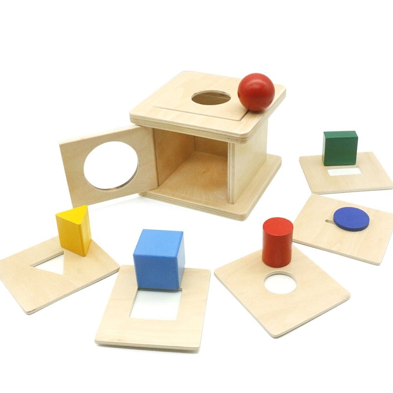 Materiais montessori caixa de moeda sensorial 6 em 1 caixa montessori educação pré-escolar para crianças formação k2746f