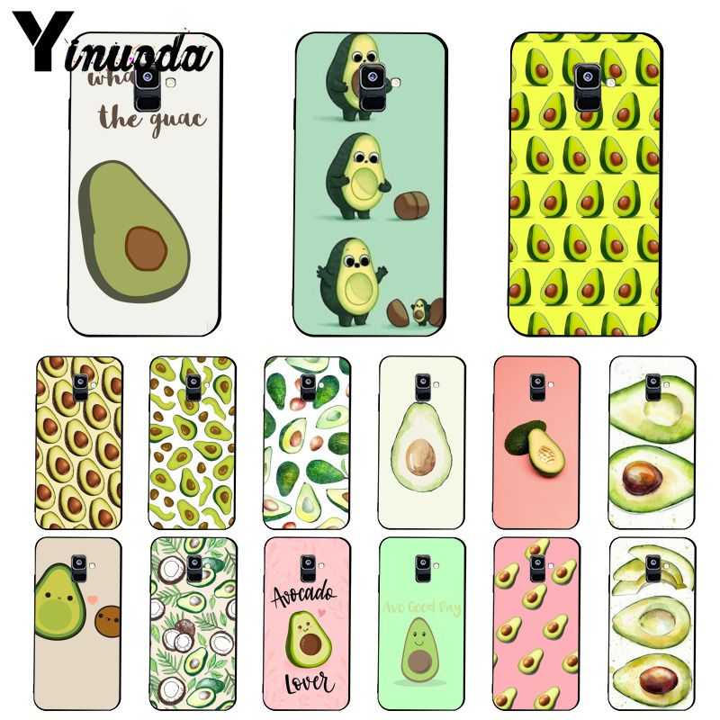 Yinuoda capinha de celular abacate aestética, frutas e alimentos, para samsung galaxy a7 a50 a70 a40 a20 a30 a8 a6 a8 plus a9 2018