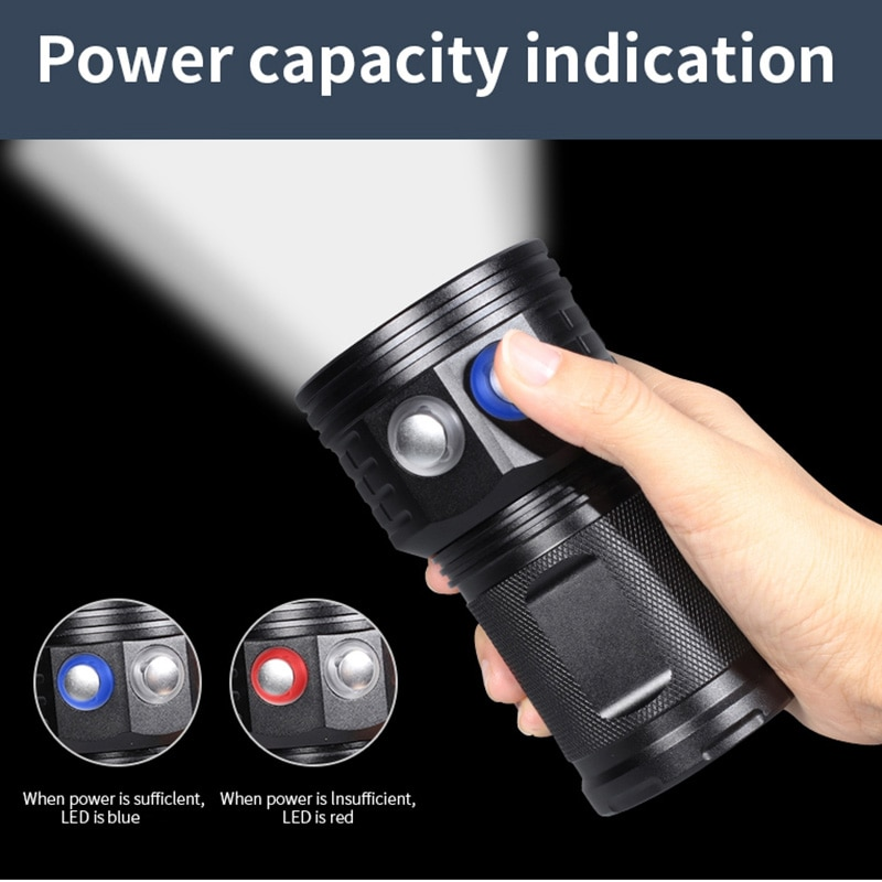 Most Power Professional Diving Flashlight L2 Portable Scuba Dive torch 200M Underwater IPX8 Waterproof 4*18650 Flashlights Lamp enlarge