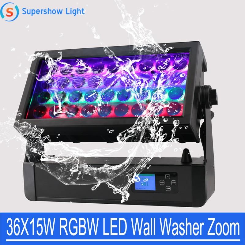 Zoom 36x15W DMX LED غسالة الجدار اللاسلكية ، للاستخدام في الهواء الطلق