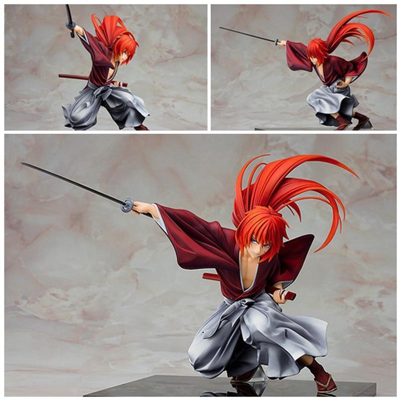 Rurouni Kenshin Meiji Swordsman Romantic Story Kenshin Himura PVC Anime Action Figures Model Figurine 19cm